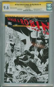 All Star Batman & Robin #6 RRP Retailer Sketch Variant CGC 9.6 Signature Series Signed Jim Lee DC